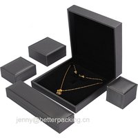 Factory Manufacture PU Leather Saudi Gift Jewelry Set Necklace Ring Earring Box