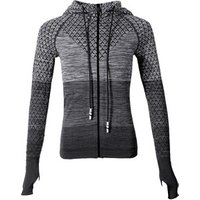 Training Hooded Jacket Fitness Gym Coats Spring Long Sleeve Mesh Running Bodybuilding Tracksuits Sport Jackets For Women