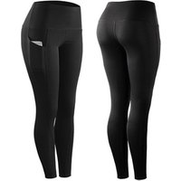 wholesale 92% polyester 8% spandex leggings high waist with pockets active wear leggings