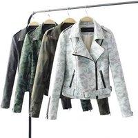 2019 winter hot fashion women PU leather jacket