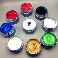 Unisex Hair Wax Color Dye Styling Cream Mud, Natural Hairstyle Pomade, Washable Temporary,Party Cosplay -86190101