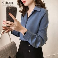 Fashion Design Long Sleeve Casual Ladoes Clothing Plus Size Womens Office Blouse