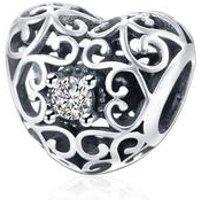 'Diy Jewellery Accessories Bracelet Cz Heart Charm Fit For Pandora Charm Bracelets 925 Sterling Silver