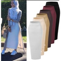 New style Arabic Turkish Islamic muslim womans plain color high quality abaya dress pencil skirt very popular