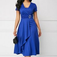 340021 Good quality Plus Size Long irregular large hem design Evening Dress party dresses