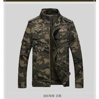 2019 customized pure cotton outdoor large size mens camouflage combat uniform military jacket