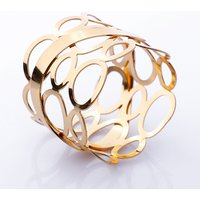 Wedding Christmas Wholesale Rose Gold Silver Napkin Ring and Holder  @