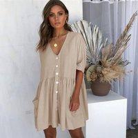 2019 new slim comfortable short loose woman dress