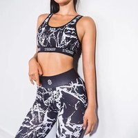 2 Piece Set Women Sport Suit Gym Womens Workout Clothes Fitness Crop Top And Scrunch Butt Leggings Seamless Yoga Set