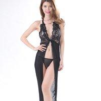 Womans Deep V-Cord Backless Lace Sheer Mesh Dress Suit Teddy Lingerie Plus Size