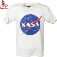 Hot sell  NASA 100% cotton short sleeve unisex couple  t shirt men in bulk