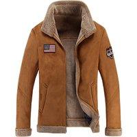 2019 Autumn Winter Lambs Large size fur integrated mens jacket Artificial fur one coat