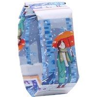 2019 New Paper Watch LED Waterproof Paper Strap Digital Wrist Watches