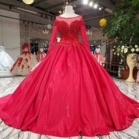 Jancember LS92450 real sample long sleeve latest design pictures of formal woman evening dress