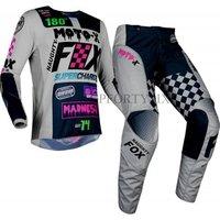 2019 NEW CZAR 180 Motocross Pants and Jersey Combos MX DH MTB Racing Suit Motorcycle Moto Dirt Bike MX ATV Gear Set Gray