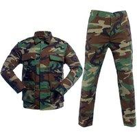 Wholesale BDU Uniform T/C 65/35 Custom Combat Military Camouflage Tactical Army Uniform Jacket+Pant Uniform