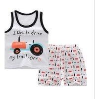 Childrens vest suit cotton baby two-piece Baby short sleeve vest suit
