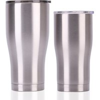 20OZ 30OZ Stainless Steel  curve tumbler  cooler Double Wall Premium Insulate mug with slid lid silver