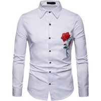 men%27s+custom men embroidered floral dress shirts