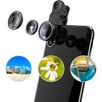 'Hot Selling 3 In 1 Wide Angel Fish Eye Lens Macro Smartphone Lens Cell Phone Camera Lens Kit