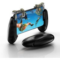Mobile Game Controller for pubg, White Durable Cellphone Triggers, Fits 5.3in-7in wide phones, Compatible With iPhone and Android