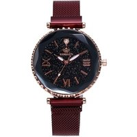 Magnet Watch Women Vogue Mesh Steel Sky Rome Rhinestone Classic Dress Bracelet Watches TW095