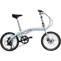 20-inch adult light 6061 aluminum frame folding bicycle small 6-speed mini-bike