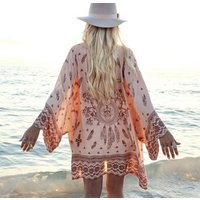 Bohemia Ladies Beach Dress Cover Up Kaftan Sarong Summer wear Swimwear Bikini Cover Ups Chiffon Beachwear Dress