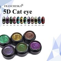 Francheska 5D Cat Eye Gel Polish Effect Color Magnetic Cat Eye Gel Nail Polish