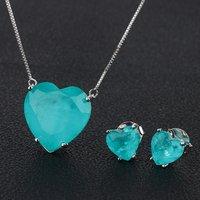 wholesale bollywood heart design fusion stone women fashion jewellery set