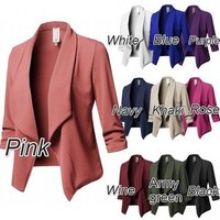 S- 5xl Plus Size Blazer Suit Long Sleeved Lapel Casual Small Suit Slim Yards Blazers Ladies Women Work Wear Jacket Y10351