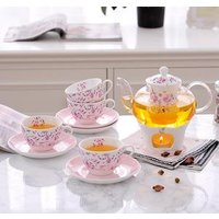 bone tea set wholesale glass teapot porcelain coffee cup warmer tea sets cup and saucer ceramic