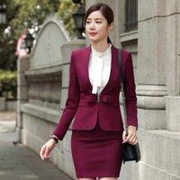 professional slim fit lady career dress woman suit office business formal skirt suit OL  workwear dress uniform