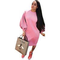 Women Jumper Hoodies Dress Female Tunic Bodycon Sweatshirt Dresses Tracksuit Pullover Vestidos De Fiesta Y10867