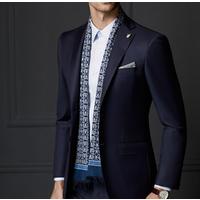 Blue Men Suit Bespoke Men Slim Fit Wedding Suit