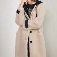 China wholesale shearling jacket women fur garment genuine shearling coat