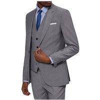 High Quality Top Brand Grey 3 Pieces Slim Fit Office Uniform Coat Pant Men Suits