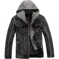 high quality winter wool jacket cashmere lining coat denim men jacket