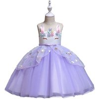 Wholesale New Styles Fancy Satin Maxi Birthday Party Dress Girl  Beautiful Princess Girl Dresses girls unicorn dress