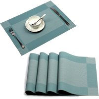 Recycled Series Twill Woven Vinyl PVC Washable Dining/Coffee Table Placemats