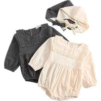 new born babys clothes Baby Summer Clothing Infants used Baby Girls Boys Bodysuits Pure Color Ruffles  Jumpsuit