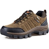 Wish top hot sale Factory Wholesale Suede Leather Couples Anti Slip Outdoor Mountain Desert Ankle Climbing shoes Hiking Boots