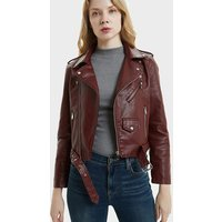 '2018 Fall Winter China Manufacturer Wholesale Ladies Winter Coat Fashionable Street Style Womens Zipper Leather Biker Jacket