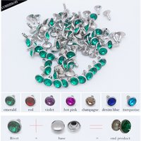 CLOSE END RHINESTONE CRYSTAL RIVETS,DIAMOND RIVET FOR LEATHER HANDBAG