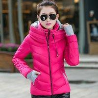 Lady Womens Winter Thicken Down Zipper Jacket Short Fashion Coat SV007132