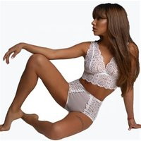 SFY709  V shape collar femals lace Sexy fashion bra underwear lingerie and nightgown sets
