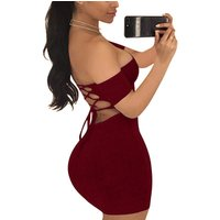 Accept paypal classic wine red off shoulder bodycon short women dress