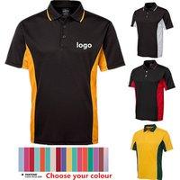 Wholesale Short Sleeve 100% Polyester Mens Polo Shirts Plain Polo Golf Shirt