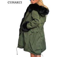 2018 Hot Sale Warm Coat Women Winter Coat Thickened Women Slim Long Coats Cotton Tops Ladies Black Army Green Jackets