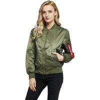 Wholesale custom factory blank MA-1 waterproof women bomber jacket oversize black white